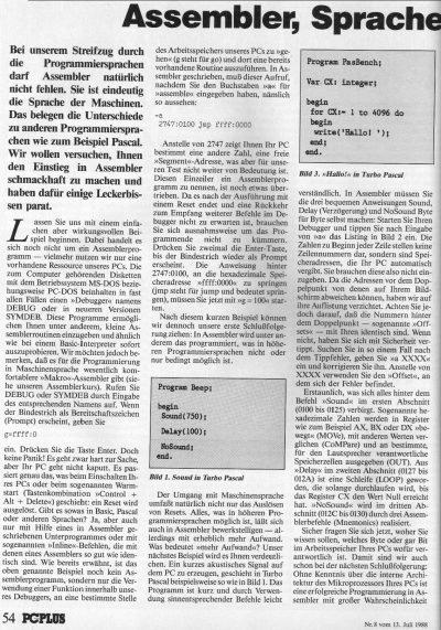 1988 - Assembler, Sprache der Maschinen 1