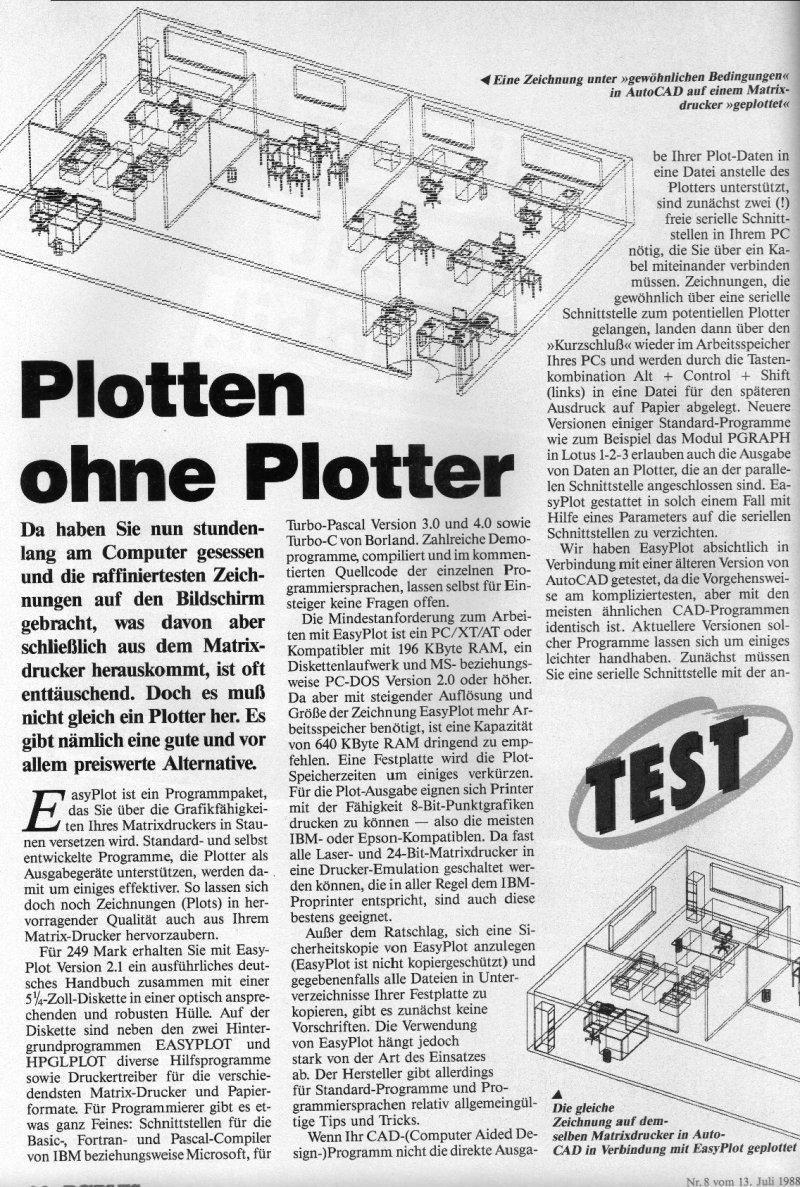 1988 - Plotten ohne Plotter 1