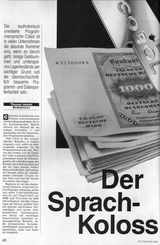1990 - Cobol, der Sprach-Koloss 1