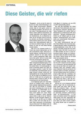 Thomas Jannot in Kommunikation und Netze H1/2014