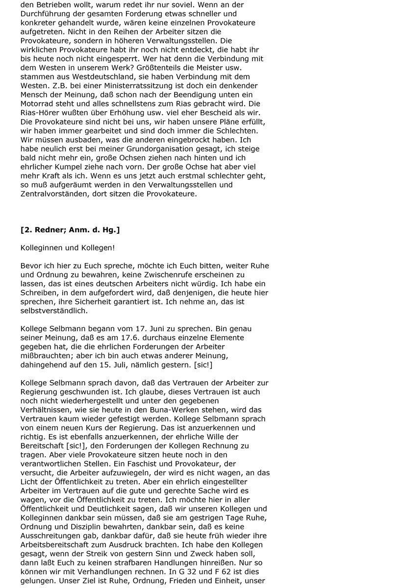 Protokoll einer Betriebsversammlung (1953), Seite 2