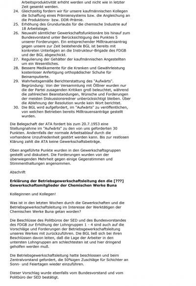 Protokoll einer Betriebsversammlung (1953), Seite 14