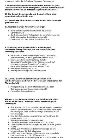 Protokoll einer Betriebsversammlung (1953), Seite 17