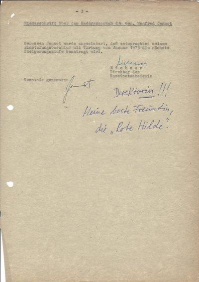 Niederschrift der Hoch- und Fachschulkader (1973), Seite 3/3