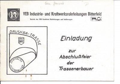 Einladung zur Abschlussfeier der Trassenbauer (1978), Seite 1/3