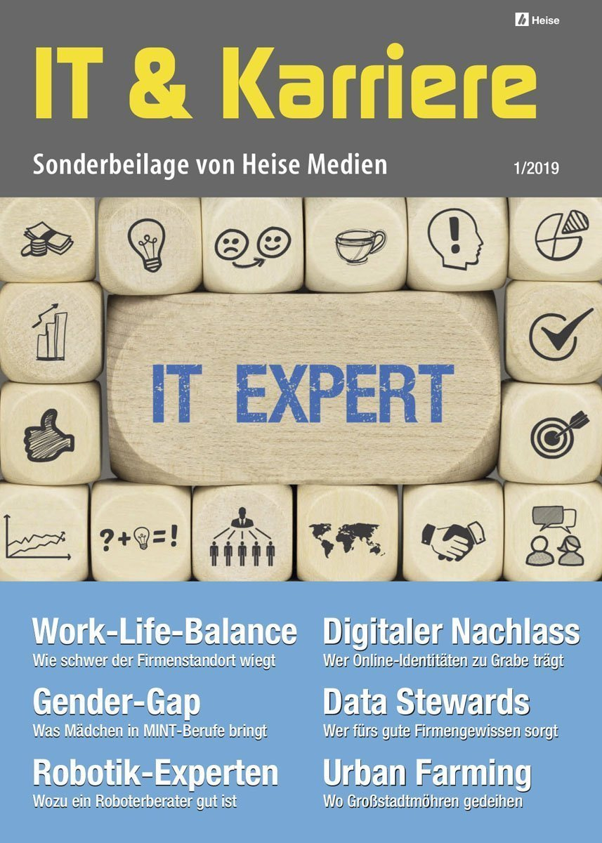 IT & Karriere 1/2019 in c't 7/19, iX 4/19 und Technology Review 4/19