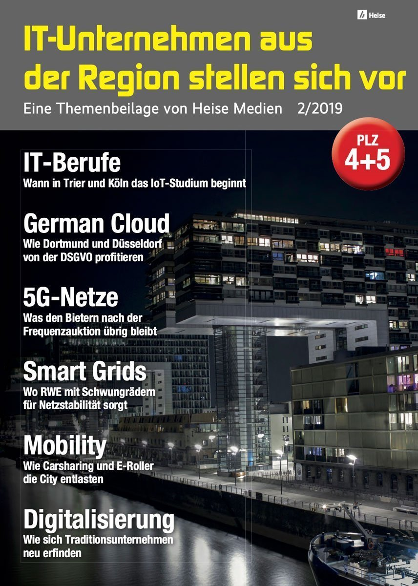 IT-Unternehmen aus der Region stellen sich vor 2/2019 (PLZ 4+5) in c't 12/19